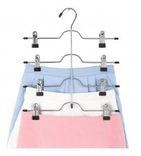 1 PC 32.5*36 cm 4-layer Pants Rack Trousers Skirt Jeans Socks Hanger Drying Rack 8 Clips Wardrobe Space Saving Storage Organizer