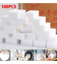 100pcs White Multi-functional Magic Sponge Eraser Cleaner 100 x 60 x 20mm free shipping