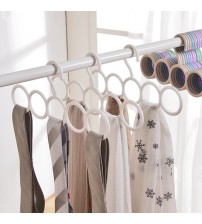 1 pc Scarf Closet Holder with 5 Loops Space Save Hanger for Organizer Scarves Ties and Belt Accessories