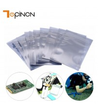 100Pcs/Set ESD Antistatic Aluminum Storage Bag Zip Lock Resealable Anti Static Pouch for Electronic Accessories Package Bags