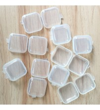 10/30PCS Mini Clear Plastic Small Box Jewelry Earplugs Storage Box Case Container Bead Clear Organizer Gift GPD8448