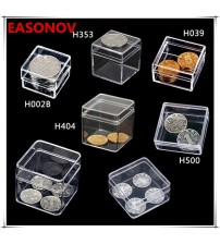 10pcs / lot Square Small box PS transparent plastic storage box collection showpiece box Free Shipping