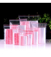 100 Pcs Mini Plastic Ziplock Bags Jewelry Zipper Zip Lock Plastic Bags For Food Packaging Thick Clear Dustproof Storage Bag
