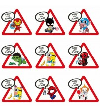 Removable Baby on Board Car Sticker Creative cute Color Super Hero Waterproof Sticker for car  funny Tail Warning Sign Decal