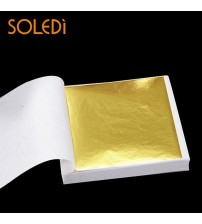 100 sheets Taiwan shiny gold leaf for gilding funiture, lines, wall, crafts, 8 x 8.5 cm for Gilding Decoration