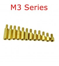 10 pcs M3 Series M3*L+E(6mm) Brass Copper M3 Hex Column Standoff Support Spacer Pillar PCB Board Male to Female