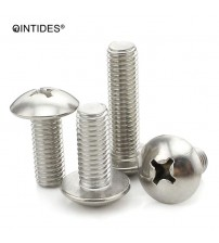 QINTIDES M3 M4 M5 Crosss recessed mushroom screws 304 stainless steel Truss screw phillips screws  M3/M4/M5*4/5/6/8/10/12/14/16