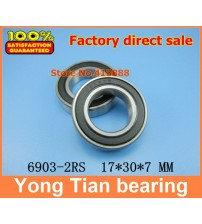 (1pcs) The Rubber sealing cover  Thin wall deep groove ball bearings 6903-2RS 17*30*7 mm