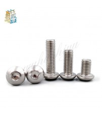 (10 pc/lot) M5,M6,M8 *L =8~50mm ISO7380 Stainless Steel A2 Hex socket button head cap toy screw