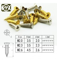 100pc/lot Long-term sale of wooden box hardware with self-tapping screws,Large quantity of Cong,Specification:M2*6/*8/*10/*12mm
