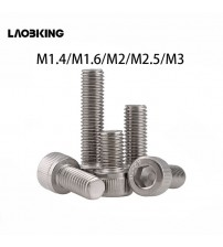 (100 Pc/lot) M1.4,M1.6,M2,M2.5,M3 *L Sus304 Sainless Seel Hxagon Scket Had Cap Screw / Model Auto Diy Screw