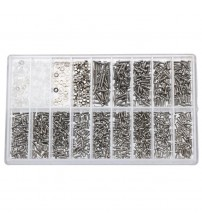 1000pcs Small Stainless Steel Spectacles Screws Micro Glasses Sunglass Watch Nuts Screwdriver Repair Tool for Home Tool Kit
