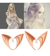 1 Pair Mysterious Angel Elf Ears Halloween Costume Props Cosplay Accessories Latex Prosthetic False Ears Party Supplies