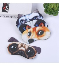 1 Pcs Funny Animal 3D Dogs Cats Eye Face Mask Lovely Cute Traveling Eyeshade Eye Cover Sleeping Masks Eyepatch Goggles