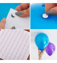 100 Points Balloon Attachment Glue Dot Attach Balloons To Ceiling Or Wall Stickers Birthday Party Wedding Supplies globos