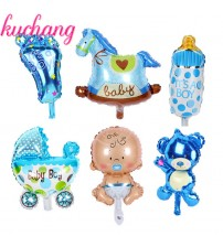 mini angel baby girls balloon baby shower baby Stroller foil ballon baby toys balao for newborn party decoration