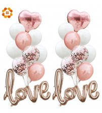 Creative Multi Confetti Air Balloons Valentine's Day Party Paper Garland Love Balloons For Wedding Party Decoration Supplies