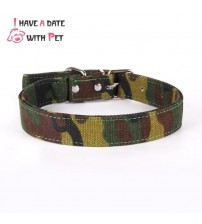 1 piece Camouflage Canvas Material pet dog collar woods Training Camouflage for Medium Large Dogs Seat Belt Accessories Lead