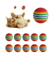 10Pcs Colorful Pet Rainbow Foam Fetch Balls Training Interactive Dog Funny Toy pet products