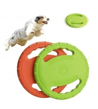 1PC Dog Flying Disc Interactive Rubber Dog Toys Soft Floating Dog Catcher Toy for Pet Training & Chewing