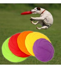 1 Pcs Interactive Dog Chew Toys Resistance Bite Soft Rubber Puppy Pet Toy for Dog Pet Training Products Dog Frisbie Flying Discs