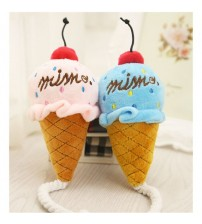 1PC Cute Puppy Chew Play Squeaker Toy dog toys Plush Cat Dog Chew Ice Cream Rope Toys Squeaky Pet Product Sound Toys