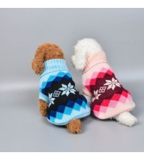 15 Colors Christmas Winter Dog Coat Clothes Warm Soft knitting Pet Dog Vest Sweater For Small Medium Dogs Classic Pattern