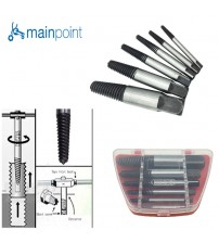 Mainpoint Damaged Broken Screw Extractor Removal Drill Bits 6Pcs/Set Red Box Damaged Bolt Screw Drill Screwdriver Electric Tool