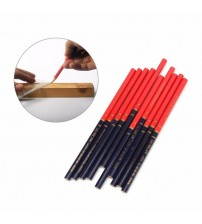 10Pcs/Set Blue And Red Wire Round Carpenters Pencils For Woodworking Core Marker