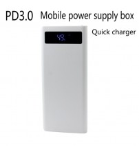 Quick charge DIY 8x18650 Portable Battery Power Bank Shell Case Box LCD Display Dual USB QC2.0 3.0 5V3A9V2A12V1.5A(No Battery)