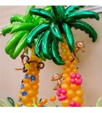 10 pcs 36 inch coconut tree leaf Foil balloons Birthday Party Wedding Room Decor Palm leaf Aluminum globos Opening Ceremony