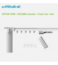 Dooya  Electric curtain track system Curtain Motor DT52E 45w+ Remote Control+Motorized Aluminium Curtain Rail Tracks 1m-6m