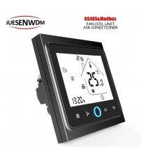 Touch Screen LCD Display 220VAC,24VAC temperature controller thermostat &RS485 For Central Air 3 Speed Fan Coil Units