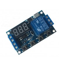 1 way relay module control time delay power cut off trigger delay cycle timer circuit switch.