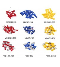 Female male Insulated Spade joint Connector Crimp Terminal Connectors Cable Wire Connector 10PCS