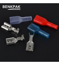 BENKPAK 6.3mm Crimp Terminal 50 Female Spade Connector with 50 Case