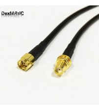 "New SMA  Male Plug To SMA  Female Jack Connector RG58 Cable Pigtail  50CM 20"" Adapter"