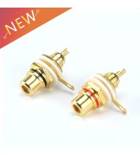 1 Pair RCA Female Socket Connector Chassis Panel Mount Adapter Audio Terminal Plug 3.5mm Plug AV Plug
