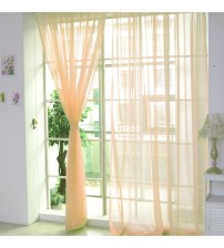 1 PCS Pure Color Tulle Door Window Curtain Drape Panel Sheer Scarf Valances Window Curtain home decor living room bathroom #15