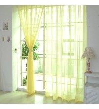 1 PCS Pure Color Tulle Door Window Curtain Drape Panel Sheer Scarf Valances Solid color glass yarn fashion home decoration
