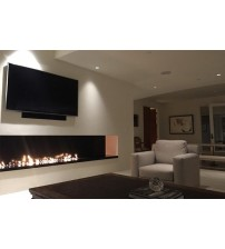 60 inch silver or black wifi real fire indoor intelligent ethanol fireplace remote