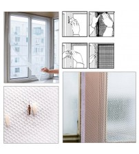 1.3M*1.5M Self-adhesive Anti-mosquito Net DIY Flyscreen Curtain Insect Fly Mosquito Bug Mesh Window Screen Home Supplies Curtai