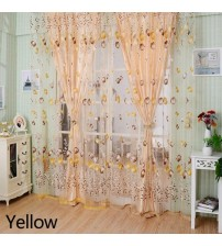 1*2M Romantic tulle window curtains Tulip pattern Tulle Curtain Living Room Balcony household items Decor tulle curtains window