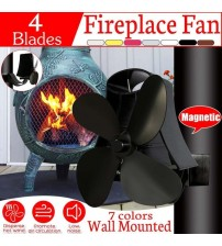 Kindly Quiet 4 Blade Wall Hanging Heat Powered Stove Fan Log Wood Burner Eco Home Fireplace Fan Heat Distribution Fuel Saving