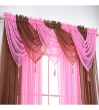 1 PC Romantic Modern Solid Color Translucidus Window Gauze Home Curtain For Home Decor Living Room Bedroom Windon Screens New