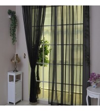 1 PCS Pure Color Tulle Door Window Curtain Drape Panel Sheer Scarf Valances Quality all-match window screens tulle voile curtain