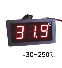 -30-250 Celsius degree digital thermometer large screen LED display thermostat 12V/24V/220V power
