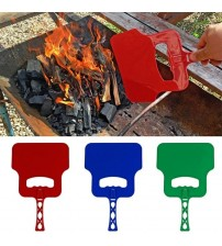 1 PCS  BBQ Hand Fan  Barbecue Tool Blower Fan Combustion-supporting Outdoor Cooking Manual Crank 32X21CM
