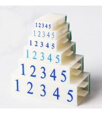 0-9 Numbers Adjustable Assembly Rubber Stamp Combination Plastic Digital Chapter Document Carton Number Scrapbooking Supplies