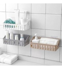 1pcs High Qaulity Non Perforated Bathroom Rack Plastic Hanging Rack For Toilet Wholesale Drop Shipping Hot Sale Supplier